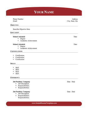 academic resume with header footer this printable resume focuses on ...