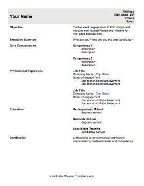 sample competency letter template .