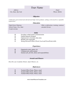 basic college subjects free sample experience letter