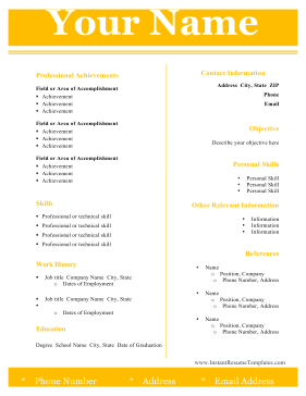 Two Column Resume Template Word - 3 column newsletter template