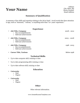 for older worker. Resume Example. Resume CV Cover Letter