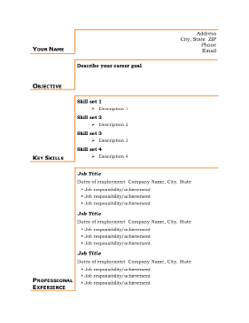resume samples for students with no experience free